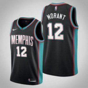 Memphis Grizzlies Ja Morant Black Jersey
